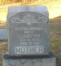 LEDBETTER, MARTHA MERINDA - Buncombe County, North Carolina | MARTHA MERINDA LEDBETTER - North Carolina Gravestone Photos