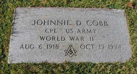 COBB (VETERAN WWII), JOHNNIE D (NEW) - Caswell County, North Carolina | JOHNNIE D (NEW) COBB (VETERAN WWII) - North Carolina Gravestone Photos