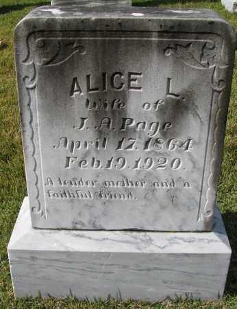PAGE, ALICE L - Caswell County, North Carolina   ALICE L PAGE - North Carolina Gravestone Photos
