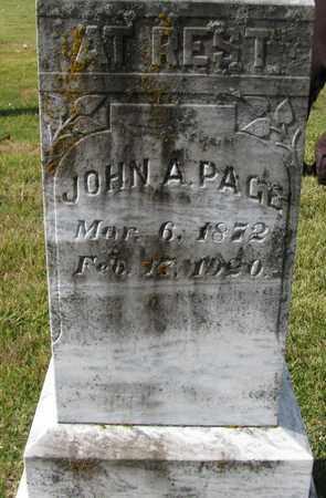 PAGE, JOHN A - Caswell County, North Carolina   JOHN A PAGE - North Carolina Gravestone Photos
