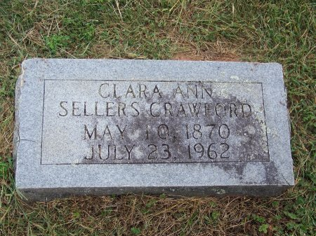 SELLERS CRAWFORD, CLARA ANN - Clay County, North Carolina | CLARA ANN SELLERS CRAWFORD - North Carolina Gravestone Photos