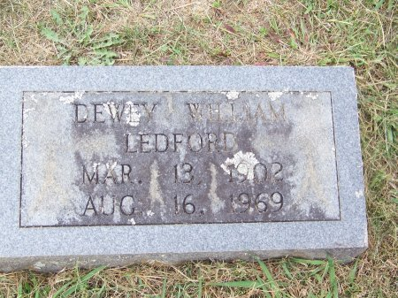 LEDFORD, DEWEY WILLIAM - Clay County, North Carolina | DEWEY WILLIAM LEDFORD - North Carolina Gravestone Photos