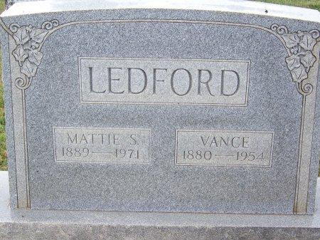LEDFORD, VANCE - Clay County, North Carolina | VANCE LEDFORD - North Carolina Gravestone Photos