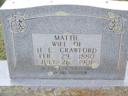 CRAWFORD, MATTIE - Clay County, North Carolina | MATTIE CRAWFORD - North Carolina Gravestone Photos