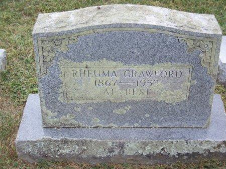 CRAWFORD, RHEUMA - Clay County, North Carolina   RHEUMA CRAWFORD - North Carolina Gravestone Photos