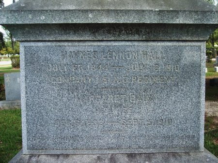 HALL (VETERAN CSA), HAYNES LENNON - Cumberland County, North Carolina | HAYNES LENNON HALL (VETERAN CSA) - North Carolina Gravestone Photos