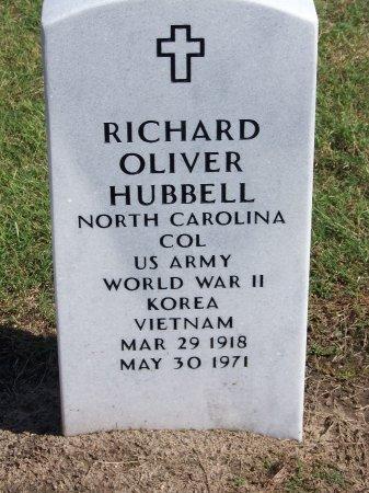 HUBBELL (VETERAN THREE WARS), RICHARD OLIVER - Cumberland County, North Carolina | RICHARD OLIVER HUBBELL (VETERAN THREE WARS) - North Carolina Gravestone Photos