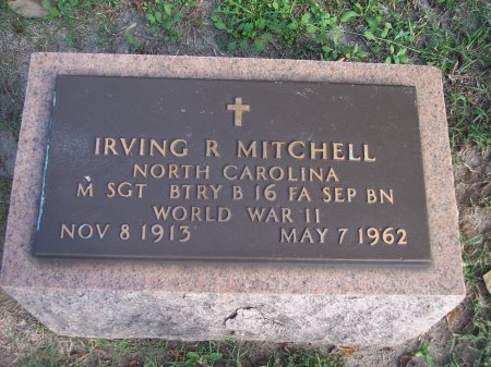 MITCHELL (VETERAN WWII), IRVING R. - Cumberland County, North Carolina | IRVING R. MITCHELL (VETERAN WWII) - North Carolina Gravestone Photos