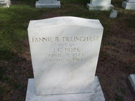 TILLINGHAST POPE, FANNIE B. - Cumberland County, North Carolina   FANNIE B. TILLINGHAST POPE - North Carolina Gravestone Photos