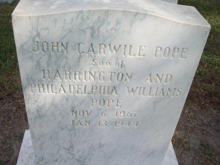 POPE, JOHN CARWILE - Cumberland County, North Carolina | JOHN CARWILE POPE - North Carolina Gravestone Photos