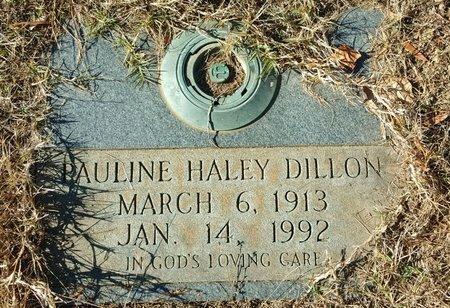 DILLON, PAULINE HALEY - Forsyth County, North Carolina | PAULINE HALEY DILLON - North Carolina Gravestone Photos