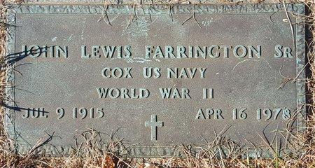 FARRINGTON, SR., JOHN LEWIS - Forsyth County, North Carolina | JOHN LEWIS FARRINGTON, SR. - North Carolina Gravestone Photos