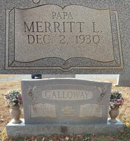 GALLOWAY, MERRITT LEE - Forsyth County, North Carolina | MERRITT LEE GALLOWAY - North Carolina Gravestone Photos