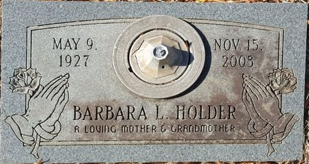 HOLDER, BARBARA L - Forsyth County, North Carolina | BARBARA L HOLDER - North Carolina Gravestone Photos