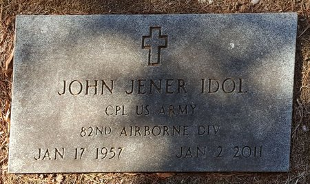 IDOL, JOHN JENER - Forsyth County, North Carolina | JOHN JENER IDOL - North Carolina Gravestone Photos