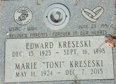 "KRESESKI, MARIE ""TONI"" - Forsyth County, North Carolina | MARIE ""TONI"" KRESESKI - North Carolina Gravestone Photos"