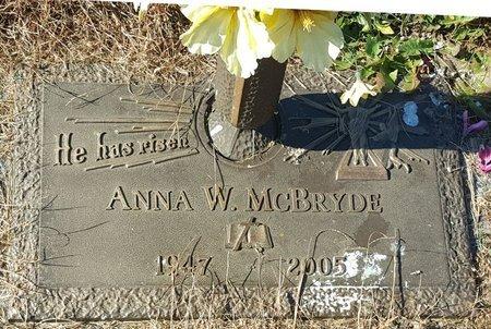 MCBRYDE, ANNA W. - Forsyth County, North Carolina | ANNA W. MCBRYDE - North Carolina Gravestone Photos