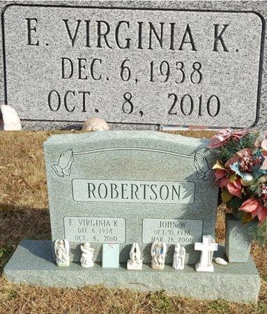 ROBERTSON, ELLER VIRGINIA KING - Forsyth County, North Carolina | ELLER VIRGINIA KING ROBERTSON - North Carolina Gravestone Photos
