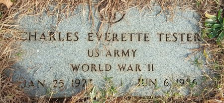TESTER, CHARLES EVERETTE - Forsyth County, North Carolina   CHARLES EVERETTE TESTER - North Carolina Gravestone Photos
