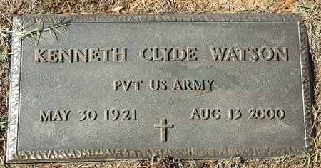 CLYDE WATSON, KENNETH - Forsyth County, North Carolina | KENNETH CLYDE WATSON - North Carolina Gravestone Photos