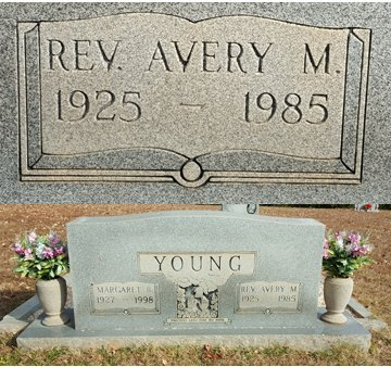 YOUNG, REV. AVERY M. - Forsyth County, North Carolina   REV. AVERY M. YOUNG - North Carolina Gravestone Photos
