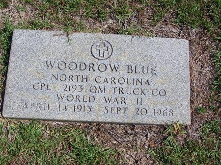 BLUE (VETERAN WWII), WOODROW - Hoke County, North Carolina | WOODROW BLUE (VETERAN WWII) - North Carolina Gravestone Photos