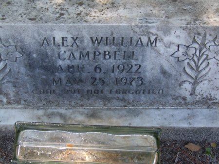 CAMPBELL, ALEX WILLIAM - Hoke County, North Carolina | ALEX WILLIAM CAMPBELL - North Carolina Gravestone Photos