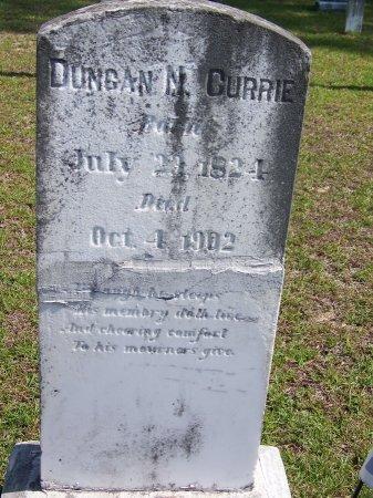CURRIE, DUNCAN N. - Hoke County, North Carolina | DUNCAN N. CURRIE - North Carolina Gravestone Photos