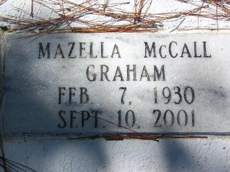 MCCALL GRAHAM, MAZELLA - Hoke County, North Carolina   MAZELLA MCCALL GRAHAM - North Carolina Gravestone Photos