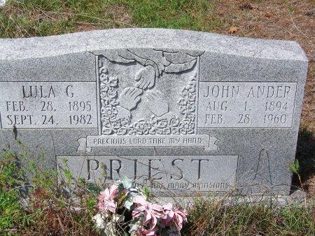 PRIEST, LULA G - Hoke County, North Carolina   LULA G PRIEST - North Carolina Gravestone Photos