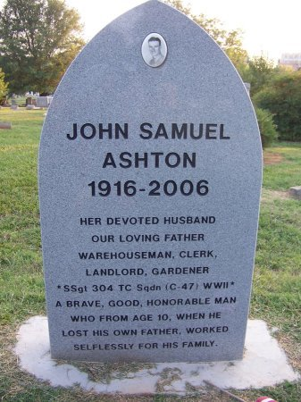 ASHTON (VETERAN WWII), JOHN SAMUEL - Mecklenburg County, North Carolina | JOHN SAMUEL ASHTON (VETERAN WWII) - North Carolina Gravestone Photos