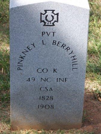 BERRYHILL (VETERAN CSA), PINKNEY L. - Mecklenburg County, North Carolina | PINKNEY L. BERRYHILL (VETERAN CSA) - North Carolina Gravestone Photos