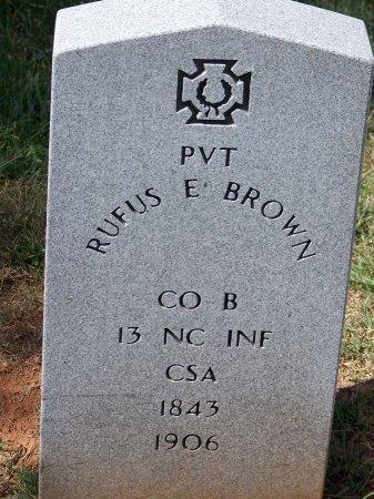 BROWN (VETERAN CSA), RUFUS E. - Mecklenburg County, North Carolina | RUFUS E. BROWN (VETERAN CSA) - North Carolina Gravestone Photos