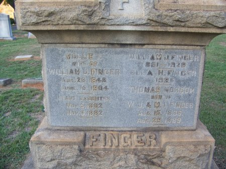 FINGER, THOMAS NORCOM - Mecklenburg County, North Carolina | THOMAS NORCOM FINGER - North Carolina Gravestone Photos