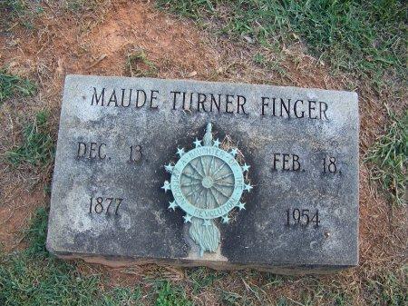 TURNER FINGER, MAUDE - Mecklenburg County, North Carolina | MAUDE TURNER FINGER - North Carolina Gravestone Photos