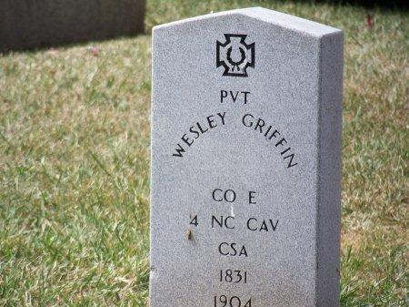 GRIFFIN (VETERAN CSA), WESLEY - Mecklenburg County, North Carolina | WESLEY GRIFFIN (VETERAN CSA) - North Carolina Gravestone Photos