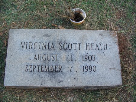 SCOTT HEATH, VIRGINIA - Mecklenburg County, North Carolina | VIRGINIA SCOTT HEATH - North Carolina Gravestone Photos