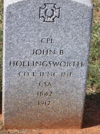 HOLLINGSWORTH (VETERAN CSA), JOHN B. - Mecklenburg County, North Carolina | JOHN B. HOLLINGSWORTH (VETERAN CSA) - North Carolina Gravestone Photos