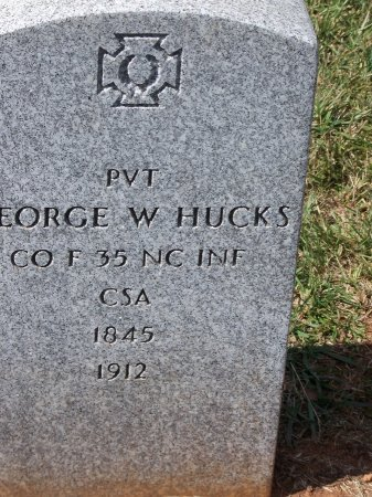 HUCKS (VETERAN CSA), GEORGE W. - Mecklenburg County, North Carolina | GEORGE W. HUCKS (VETERAN CSA) - North Carolina Gravestone Photos