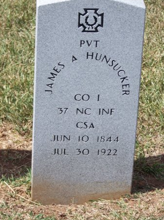 HUNSUCKER (VETERAN CSA), JAMES A. - Mecklenburg County, North Carolina | JAMES A. HUNSUCKER (VETERAN CSA) - North Carolina Gravestone Photos