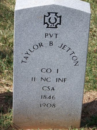 JETTON (VETERAN CSA), TAYLOR B. - Mecklenburg County, North Carolina | TAYLOR B. JETTON (VETERAN CSA) - North Carolina Gravestone Photos