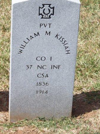 KISSIAH (VETERAN CSA), WILLIAM M - Mecklenburg County, North Carolina   WILLIAM M KISSIAH (VETERAN CSA) - North Carolina Gravestone Photos