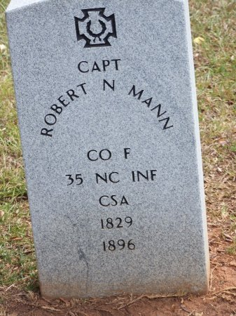 MANN (VETERAN CSA), ROBERT N. - Mecklenburg County, North Carolina   ROBERT N. MANN (VETERAN CSA) - North Carolina Gravestone Photos