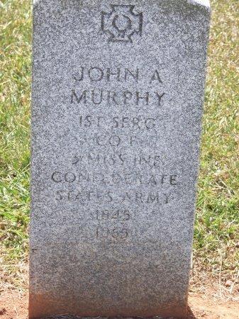 MURPHY (VETERAN CSA), JOHN A. - Mecklenburg County, North Carolina   JOHN A. MURPHY (VETERAN CSA) - North Carolina Gravestone Photos