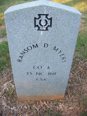 MYERS (VETERAN CSA), RANSOM D. - Mecklenburg County, North Carolina | RANSOM D. MYERS (VETERAN CSA) - North Carolina Gravestone Photos