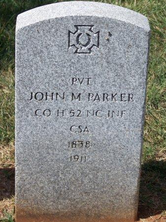 PARKER (VETERAN CSA), JOHN M. - Mecklenburg County, North Carolina | JOHN M. PARKER (VETERAN CSA) - North Carolina Gravestone Photos