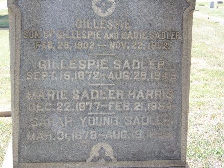 SADLER, GILLESPIE - Mecklenburg County, North Carolina | GILLESPIE SADLER - North Carolina Gravestone Photos
