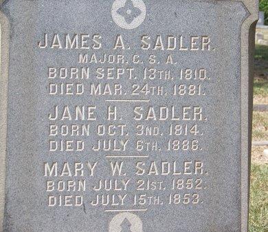 SADLER, JANE H. - Mecklenburg County, North Carolina | JANE H. SADLER - North Carolina Gravestone Photos