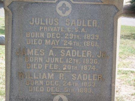 SADLER (VETERAN CSA), JULIUS - Mecklenburg County, North Carolina | JULIUS SADLER (VETERAN CSA) - North Carolina Gravestone Photos