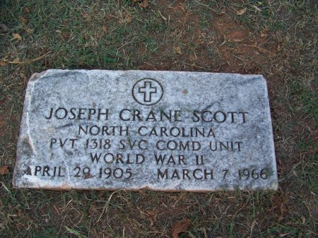 SCOTT (VETERAN WWII), JOSEPH CRANE - Mecklenburg County, North Carolina | JOSEPH CRANE SCOTT (VETERAN WWII) - North Carolina Gravestone Photos